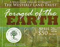 Foraged of the Earth Wild Game Dinner Poster Design