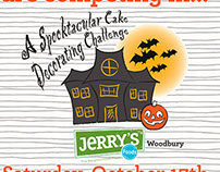Spooktacular Cake Decorating Challenge Poster