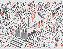 Illustrations for Fast Company - The New Capitalism
