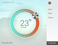 Thermostat visual design