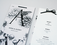 Wedding invitation and book