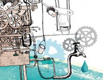about clean water / editorial illustration