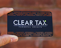 Black Metal Business Card for Clear Tax