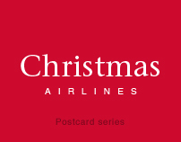 Christmas Airlines. Postcard Series