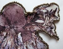 """Textile Jewelry - """"MY BIRTHDAY FLOWERS"""""""