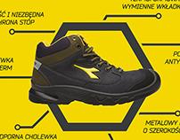 Diadora shoes leaflet