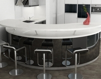 CURVED kitchen furniture /  Mobila de bucatarie curbata