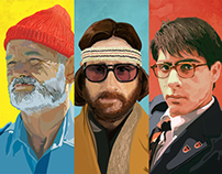 Wes Anderson Triptych
