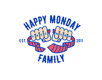 HAPPY MONDAY FAMILY LOGO