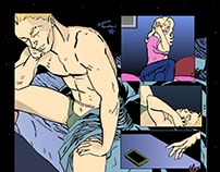 Pages from a graphic novel
