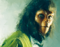 Planet of the Apes Evolution Paintings