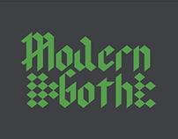 Tipografia Modern goth