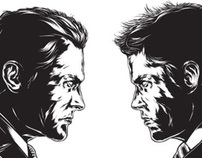 Ken Taylor's illustrations face off