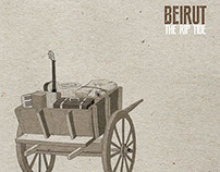Beirut The Rip Tide cd cover booklet poster
