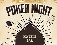 Vintage Poker Night Flyer Template