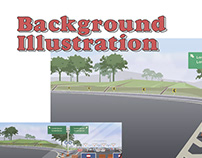 Pantura Highway Environment Illustration