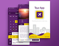 Mobile UI - Travel & Tour App (Light/Flat Theme)