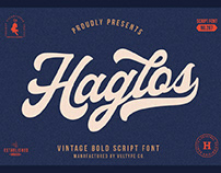 FREE | Haglos Vintage Bold Script Font