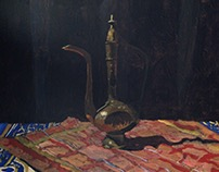 Still Life Painting - Arabic Coffee Pot