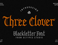 FREE | Three Clover - Blackletter Font
