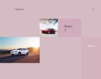 Tesla website redesign concept