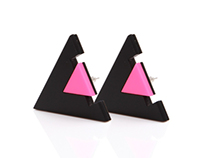 Black &Pink Wizard Earring