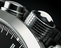 3D MontBlanc TimeWalker Blk - Advertising Imagery
