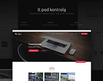 It pod kontrolą - website for outsoursing IT company