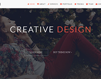 One Style - Parallax Landing Page Template