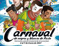 Propuesta Afiche Carnaval Negros y Blancos 2017
