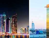 Cityscape slideshow. Dubai.
