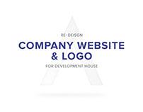 Re-design development house company website and logo