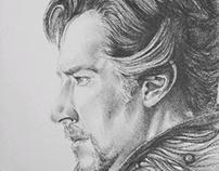 Pencil Portraiture - Doctor Strange
