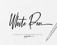 White Pen Font Free