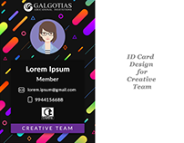 ID Card Design for Creative Team