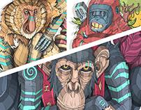 Leyendas Primitivas - Primates
