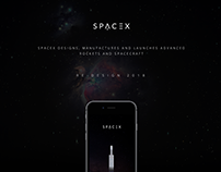 SPACEX MOBILE APP RE-DESIGN