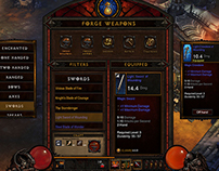 Diablo 3 Touchscreen Interface Design