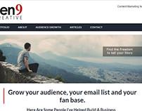 Pen9 Creative Website Redesign