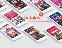 Advertising for Tictales mobile games