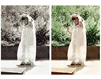 Photograph colorisation - playing dress-up