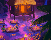 Tropical Restaurant Environment Design