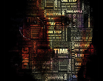 Steve Jobs Typographical Poster