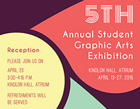 5TH Annual Student GAD Exhibition Poster