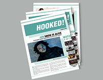 Hooked! Tabloid Newspaper Layout