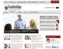 Cambridge training center website design