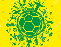 Brazil Football graphic design vector art