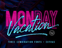 FREE   Monday Vacation Brush & Sans