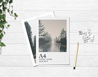 A4 paper / flyer mockup