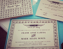 Jones Wedding Invitation Design